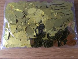 zakje plakkers tafeldecoratie gouden champagne glas