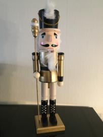Houten nutcracker notenkraker soldaat 50 cm goud