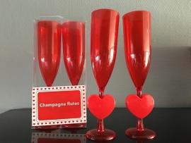 champagne flutes hart set van 2 stuks