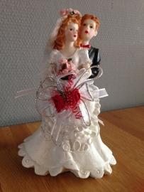 bruidspaar groot model versierd