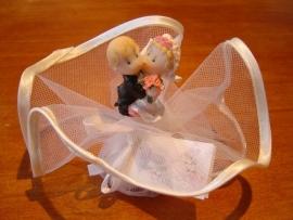 bruidspaar stelletje opgemaakt