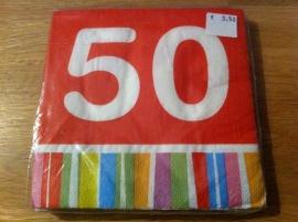 servetten opdruk 50