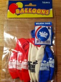 welkom thuis ballonnen 8 st