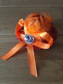 Oranje mini-hoedje voor vrouwen type A