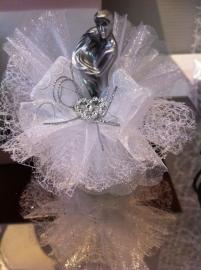bruidspaar metalic opgemaakt