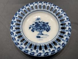"""Royal Makkum Plate """"Ajour"""" Blue Model 2"""