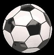 voetbal midden stuk 13 cm