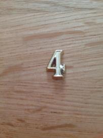 klein cijfers 4  per stuk los verkrijgbaar