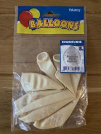 communie ballonnen wit gefeliciteerd met je communie