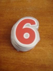 plak cijfer 6