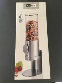 AdHoc cornflakedispenser Deposito 42,5 x 15 cm RVS zilver