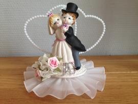 huwelijk koppel taarttopper luxe middel
