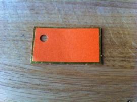 oranje kaartje 15 stuks