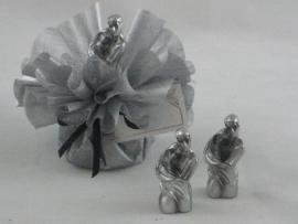 bruidspaar metalic prijs per stuk