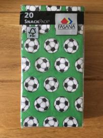servetten voetbal print groen inhoud 20 stuks