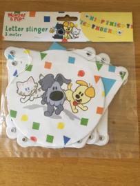 Woezel en Pip letterslinger confetti