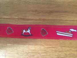 sinterklaas feest lint kleur rood lengte 2.80 cm