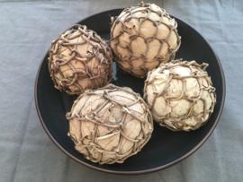 decoratie ballen 4 stuks lichte kleur