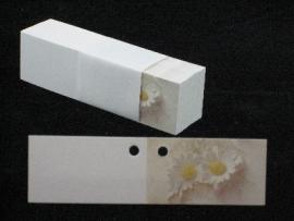 bloem kaartje 10 stuks