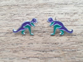 Kinderoorbellen Sterling zilver 925 dinosaurus E