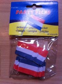 prikkers met vlag