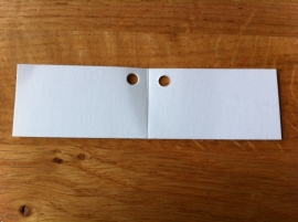 blanco kaartje wit 9 stuks