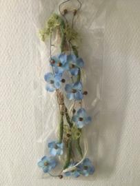 bloemenslinger decoratief 1.5 meter kleur blauw