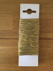 elastisch lint kleur goud 20 meter