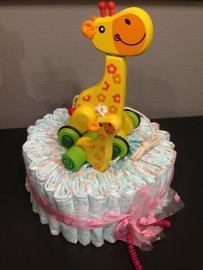 luiertaart giraf meisje medium