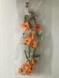 bloemenslinger decoratief 1.5 meter kleur orange