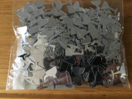 zakje plakkers tafeldecoratie zilver champagne glas