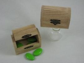 houten opbergkistje met deksel prijs per  stuk