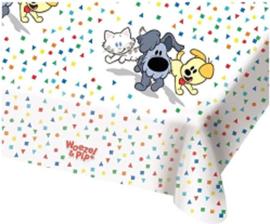 Woezel en Pip tafelkleed 180x130cm confetti