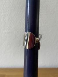 ringen silverlook c maat 17