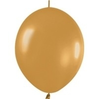 linkoloon ballonnen 10 stuks met goud