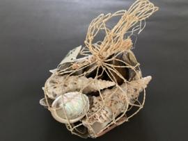schelpen mix in net naturel 195 gram