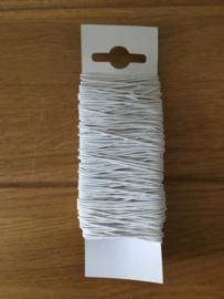 elastisch lint kleur wit 20 meter