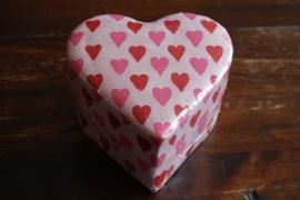 ringen hart doosje met hartjes print