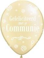communie ballon citroen geel 30 cm, 11 inch per 5 stuks