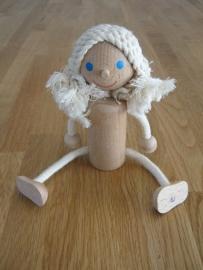 houten meisje taart topper