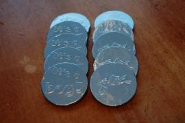 chocolade munten geboorte jongen 26 stuks