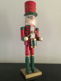 Houten nutcracker notenkraker soldaat 50 cm rood