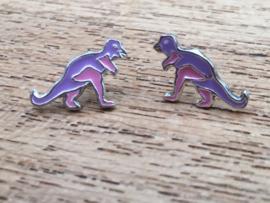 Kinderoorbellen Sterling zilver 925 dinosaurus B