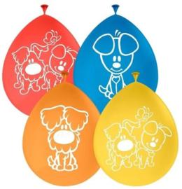 Woezel en Pip ballonnen 8 stuks 30 cm