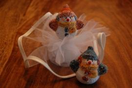 sneeuwpoppetjes opgemaakt