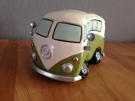autobus groot model spaarpot groen