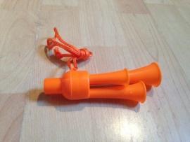 feest fluit oranje 3 hoorns prijs per stuk