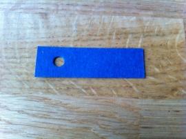 blauw smal kaartje per 10 stuks