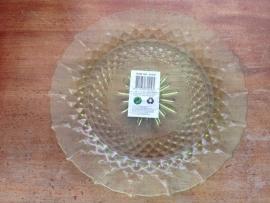 glazen decoratie onderzet bord groen