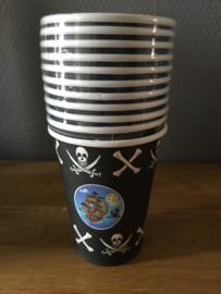 piraten drinkbekers 11 stuks